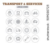 transport and services icons.... | Shutterstock .eps vector #509030725