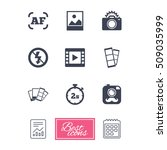 photo  video icons. camera ... | Shutterstock .eps vector #509035999