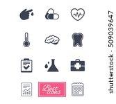medicine  healthcare and... | Shutterstock .eps vector #509039647