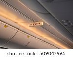 emergency exit row in airplane   Shutterstock . vector #509042965