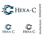 flash hexagon c quick speed move | Shutterstock .eps vector #509049499