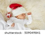 Baby Sleeping With Christmas...