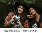 friends with a camera | Shutterstock . vector #509054611