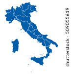 map of italy | Shutterstock .eps vector #509055619