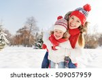 happy family mother and child... | Shutterstock . vector #509057959