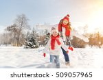 happy family mother and child... | Shutterstock . vector #509057965