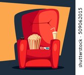 movie night. home cinema... | Shutterstock .eps vector #509062015