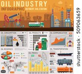 oil industry infographics with... | Shutterstock .eps vector #509063659
