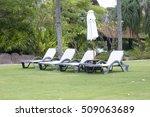 relaxing chairs beside of...   Shutterstock . vector #509063689