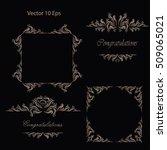 vintage frames  dividers ... | Shutterstock .eps vector #509065021