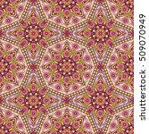 seamless oriental ornamental... | Shutterstock .eps vector #509070949