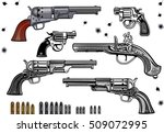 guns  revolver collection set... | Shutterstock .eps vector #509072995