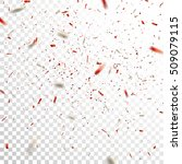 red and silver confetti. vector ... | Shutterstock .eps vector #509079115