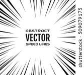 many black comic radial speed... | Shutterstock .eps vector #509079175