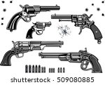 guns  revolver collection set... | Shutterstock .eps vector #509080885