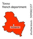 yonne french department map on... | Shutterstock .eps vector #509082157
