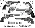guns  revolver collection set... | Shutterstock .eps vector #509084389