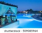 Luxury Swimming Pool At Sunset