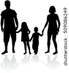 vector silhouette of family.... | Shutterstock .eps vector #509086249