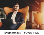 young smiling successful man... | Shutterstock . vector #509087437