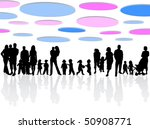 family and abstract vector | Shutterstock .eps vector #50908771