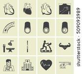 coronary heart disease symbol   ... | Shutterstock .eps vector #509093989
