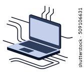 laptop vector icon in flat... | Shutterstock .eps vector #509106631