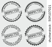 inspected insignia stamp...   Shutterstock .eps vector #509107021