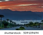 scenic view on the red sea and... | Shutterstock . vector #509109694