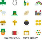 ireland color flat icons | Shutterstock .eps vector #509110189