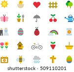 spring color flat icons | Shutterstock .eps vector #509110201