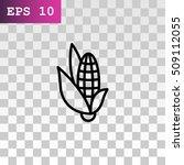 corn icon flat. | Shutterstock .eps vector #509112055