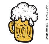glass of beer cartoon | Shutterstock .eps vector #509112244