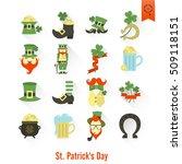 saint patricks day isolated... | Shutterstock .eps vector #509118151