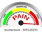 pain level conceptual meter... | Shutterstock . vector #509120191