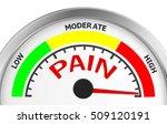 pain level conceptual meter... | Shutterstock . vector #509120191