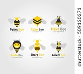 bee logo design template.... | Shutterstock .eps vector #509130271