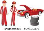 Auto Mechanics And Racing Car.