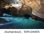 A Water Pool In River Cave At...