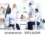 group of business people having ... | Shutterstock . vector #509136289