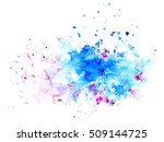 pink and blue watery spreading... | Shutterstock . vector #509144725