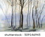 autumn trees background... | Shutterstock . vector #509146945