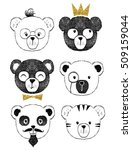 cute bear illustration series | Shutterstock .eps vector #509159044