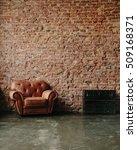 loft interior mock up photo.... | Shutterstock . vector #509168371