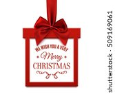 we wish you a very merry... | Shutterstock .eps vector #509169061