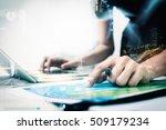 business women recheck or... | Shutterstock . vector #509179234