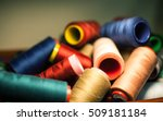 colorful thread spools used in... | Shutterstock . vector #509181184