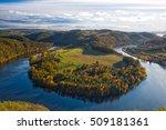 famous view on vltava river ... | Shutterstock . vector #509181361