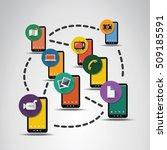 digital network connections ... | Shutterstock .eps vector #509185591
