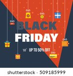 black friday sale banner... | Shutterstock .eps vector #509185999